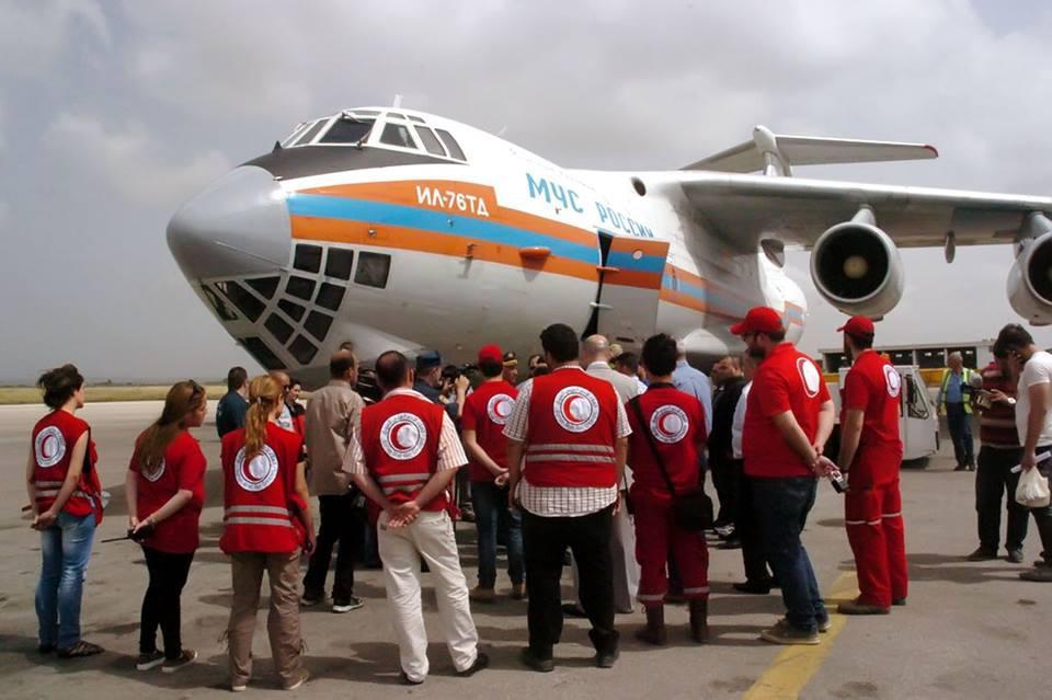 وصول المساعدات الإنسانية لحلب وتطهيرها من المتفجرات من خلال مركز حميميم