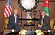 ملك الأردن يبحث مع نائب الرئيس الأمريكي محاربة