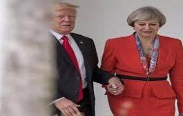 تريزا ماي ثتني علي يدي ترامب