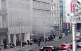 انفجار في بروكسل اصيب7اشخاص ومبنيان مدمران
