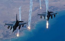 غارة جويه للتحالف الدولي على داعش في سوريا والعراق