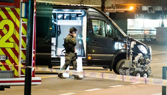 شرطة النرويج توقف شابا من جنسية روسية ترك  عبوة  في اوسلو