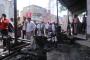 عاااجل ..بعد تنظيمها مسيرة مناصرة قضية الطفل رياض ..مجهولون يقومون باحراق ساحة الحقوق بتعز