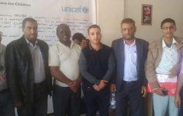 المشمر يشارك مشروع الحماية برعاية منظمة حماية الأطفال ويلتقي خبير الحماية للمنظمة في اليمن