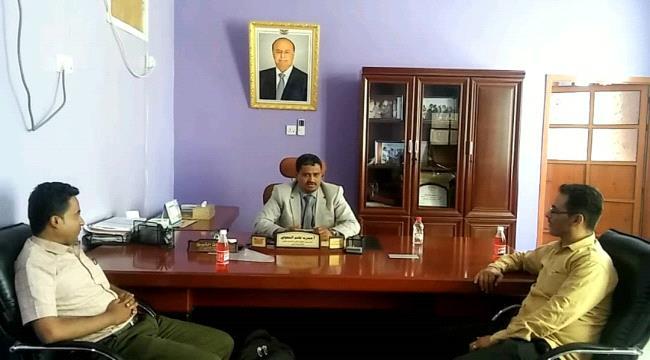 نائب وزير التعليم الفني يلتقي بعميد كلية المجتمع في مديرية المعافر بتعز