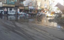 تعز: استياء شعبي من انتشار مياه المجاري في شوارع المدينة