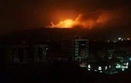 طيران التحالف العربي يغير على صنعاء وانباء عن سقوط ضحايا