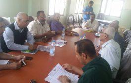 وكيل وزارة المياة في زيارة ميدانية لمرافق المؤسسة المحلية للمياة والصرف الصحي بمحافظة لحج