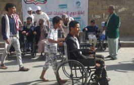 تعز: تدشين المرحلة الأولى من توزيع عربيات للمعاقين حركيا