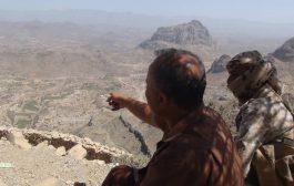 مصرع مسلحين حوثيين في مواجهات مع الجيش الوطني والمقاومة بجبهة الحشاء غرب الضالع