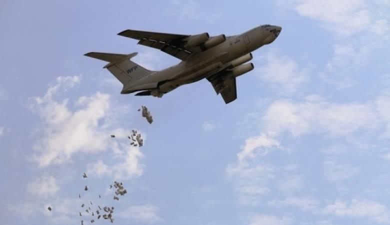 طيران التحالف العربي يسند حجور بعملية انزال سابعه