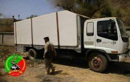 الجيش الوطني يضبط شاحنة متفجرات متجهة صوب الحوثيين