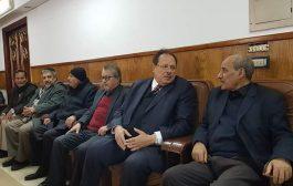 الامين العام للحزب الاشتراكي اليمني في مقدمة مستقبلي عزاء فقيد الوطن المناضل