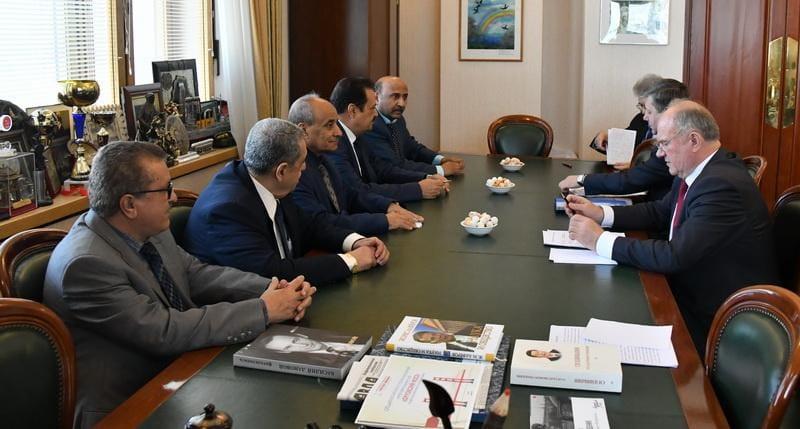 امين عام الاشتراكي اليمني والوفد المرافق له يلتقي قيادات الحزب الشيوعي الروسي في موسكو