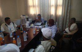 مدير عام المقاطرة يلتقي مدير مكتب الهيئة العامة لمياه الريف