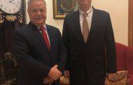 مستشار رئيس الجمهورية المفلحي يناقش مع السفير الأمريكي المستجدات اليمنية