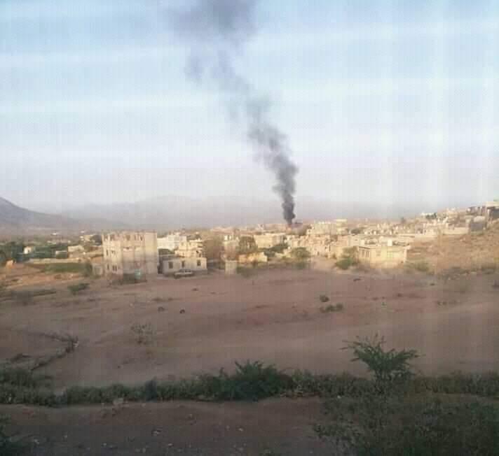 مقاتلات التحالف تقصف مواقع تمركز المليشيات في الضـالع
