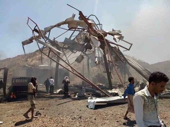 مقتل 9 مدنيين بينهم اطفال بقصف طيران التحالف شرق تعز