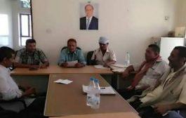 مدير عام المقاطرة يترأس الإجتماع الدوري للهيئة الإدارية بالمديرية