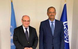 مندوب اليمن الدائم لدى الأمم المتحدة يلتقي مدير عام المنظمة الدولية للهجرة