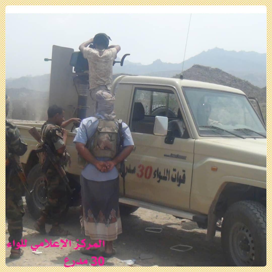 القوات الجنوبية تصد هجومين لمليشيا الحوثي شمالي الضالع