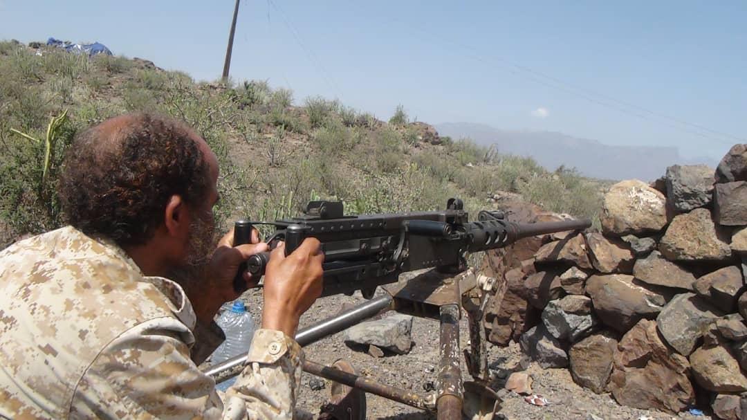 القوات الجنوبية تستهدف مواقع المليشيات الحوثية شمال الضالع