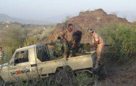 قوات اللواء 30 مدرع تكسر هجوم على قطاع شخب بالضالع