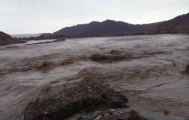 شبوة : الأمطار الغزيرة تتسبب بإرتفاع منسوب المياه وتضرر الأراضي الزراعية