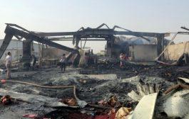 ميليشيات الحوثي تقصف مصنع اغذية في الحديدة