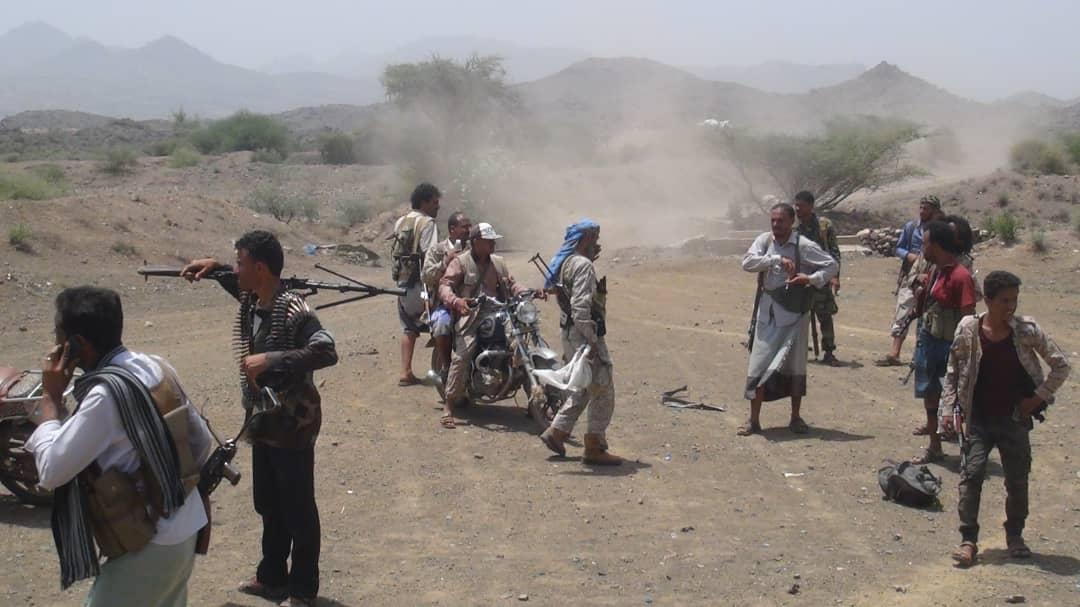القوات الجنوبية تشن هجوماً واسعاً على مواقع  الحوثيين شمالي الضالع