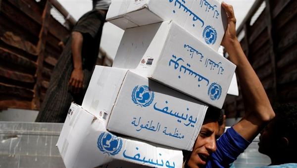 اليونيسيف توزع مياه ومساعدات إنسانية ل350 ألف نازح