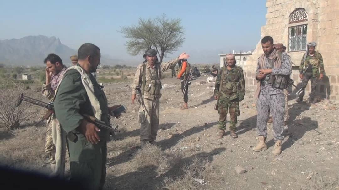 الجيش الوطني يسيطر على مواقع جديدة شمال الضالع بالتزامن مع قصف مقاتلات التحالف العربي