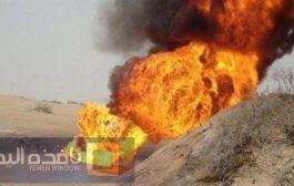 حريق هائل يلتهم بئرين نفطيين في مأرب