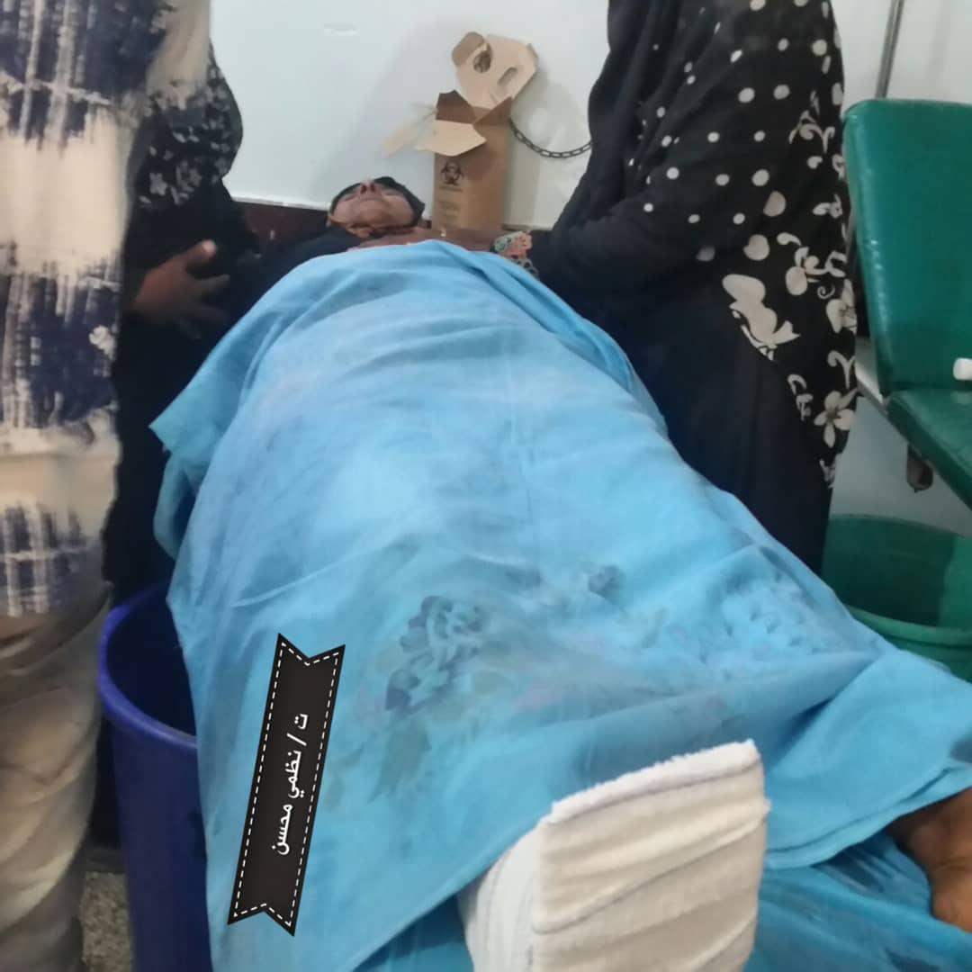 أصابة امرأة مسنة في مريس شمال الضالع برصاص قناص حوثي
