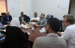 القائم باعمال  وزير المياه والبيئة يلتقي منظمة  اوكسفام