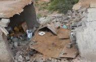 اصابة ثلاثة أطفال وتدمير منازل في قرية بالضالع