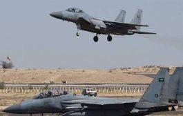 سلسلة غارات لطيران التحالف على مواقع وتجمعات الحوثيين غربي الضالع