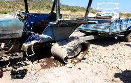 ميليشيا الحوثي تقصف  مخيما للنازحين شمال الضالع