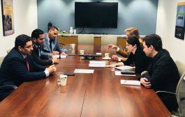 عسكر يلتقي مع عدد من كبار مستشاري ومشرعي الكونجرس الأمريكي