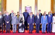الرئيس عبد الفتاح السيسي يُستقبل  رؤساء وفود الدول المشاركة في فعاليات