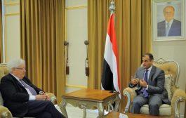 غريفيث يلتقي وزير خارجية اليمن