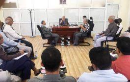 مكتب مالية تعز يعقد لقاءه الدوري