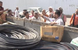 بدعم من منظمة البحث عن أرضية مشتركة تبن تتسلم المعدات الخاصة بالكهرباء لمشروع حي العزيبة
