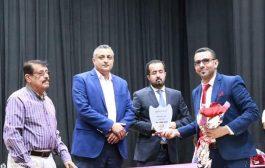 مروان دماج يكرم مكتب الثقافة وفرع الهيئة العامة للآثار بتعز بدرع الوزارة