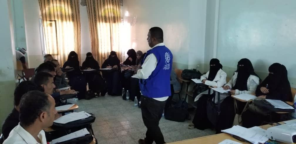 المنظمة الدولية للهجرة IOM تختتم دورة تدريبية في مجال التوعية الصحية بتعز