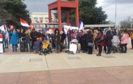 وقفة تضامنية في جنيف ضد انتهاكات الحوثيين بحق النساء