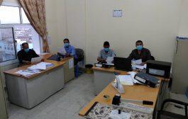 مكتب مالية تعز يدشن حملة الوقاية من فيروس كورونا