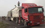 انفجار شاحنة تابعة للغذاء العالمي بالحديدة