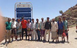 فريق منظمة كير يتفقد المشاريع المنفذة بزريقة الشام في المقاطرة