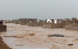 سيول الأمطار الغزيرة تجرف عدد من منازل المواطنين في مأرب والدفاع المدني يوجه دعوة
